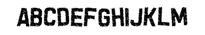 Grunge Tank Font LOWERCASE