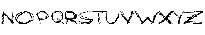 Grungy StyleRegular Font LOWERCASE