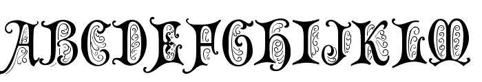 Grusskarten Gotisch Font UPPERCASE