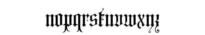 Grusskarten Gotisch Font LOWERCASE