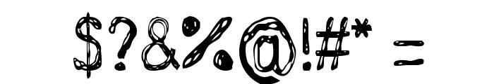GrutchHanded Font OTHER CHARS
