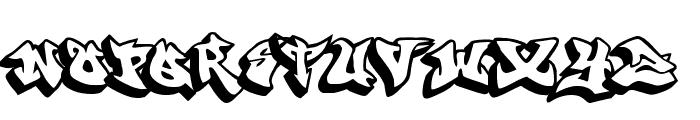graffonti 3ddrop Font UPPERCASE