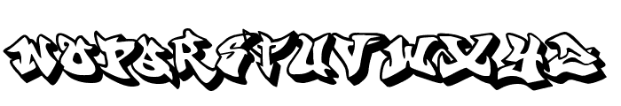 graffonti 3ddrop Font LOWERCASE