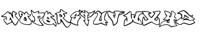 graffonti v351  atomicbomb Font UPPERCASE