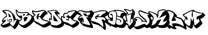 graffonti.3d.drop Font LOWERCASE