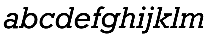 Granite Oblique Font LOWERCASE