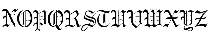 Gregory Normal Font UPPERCASE