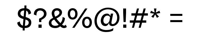 Gresa Regular Font OTHER CHARS