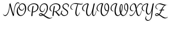 Grafolita Script Regular Font UPPERCASE