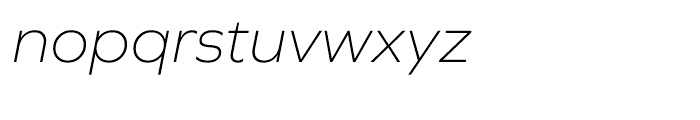 Graphie Extra Light Italic Font LOWERCASE