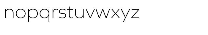 Graphie Extra Light Font LOWERCASE