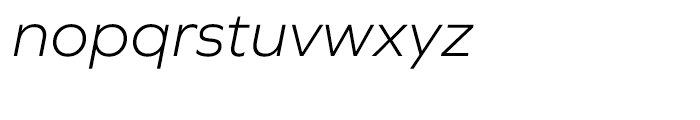 Graphie Light Italic Font LOWERCASE