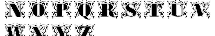 Gras Vibert Decorative Font UPPERCASE