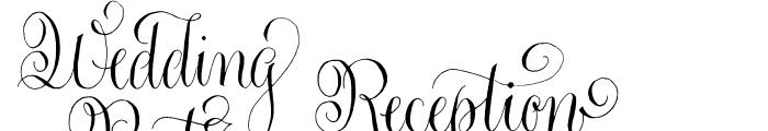 Gratitude Script Words Font UPPERCASE