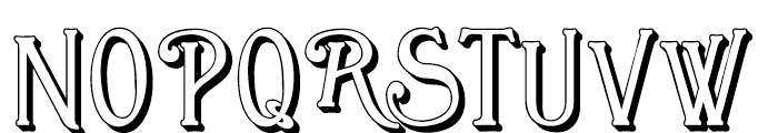Great Bromwich Shadowed Regular Font UPPERCASE