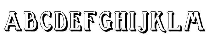 Great Bromwich Shadowed Regular Font LOWERCASE