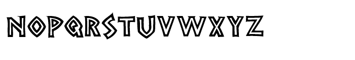 Grecian Empire Regular Font LOWERCASE
