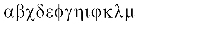 Greco Regular Font LOWERCASE