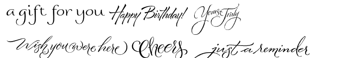 Greeting Cards Font UPPERCASE