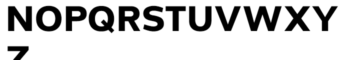 Grey Sans Bold Font UPPERCASE