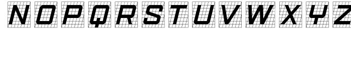 Gridlocker One Font UPPERCASE