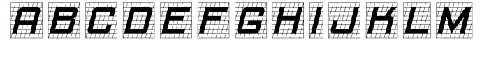 Gridlocker One Font LOWERCASE