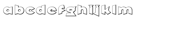 Griffin Shadow Font LOWERCASE