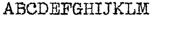 Gripewriter Regular Font UPPERCASE