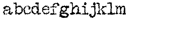 Gripewriter Regular Font LOWERCASE