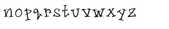 Groovin Up Slowly Regular Font LOWERCASE