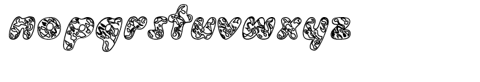 Groovy Outline Font LOWERCASE