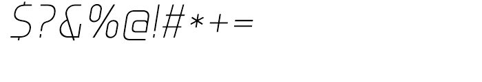 Group Sans Extra Light Oblique Font OTHER CHARS