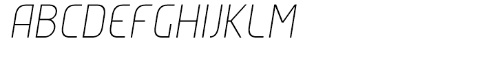 Group Sans Extra Light Oblique Font UPPERCASE
