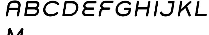 Grover Italic Font UPPERCASE