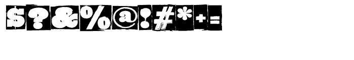 GrungeBob BF Regular Font OTHER CHARS