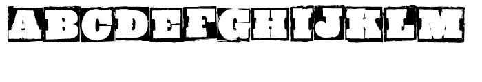 GrungeBob BF Regular Font UPPERCASE