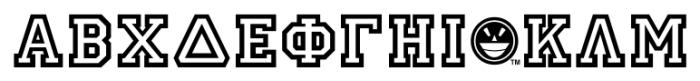 GRK1 Ivy No.1 Font UPPERCASE