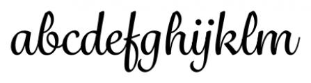 Grafolita Script Medium Font LOWERCASE
