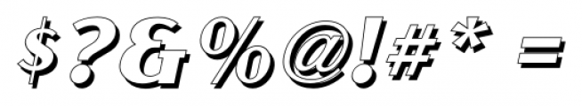 Gramercy Eight JNL Italic Font OTHER CHARS