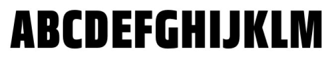 Great Escape Narrow Black Font UPPERCASE