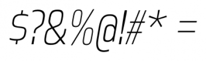 Great Escape Narrow ExtraLight Italic Font OTHER CHARS