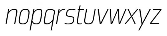 Great Escape Narrow ExtraLight Italic Font LOWERCASE