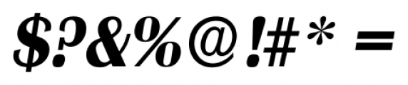 Grenoble Serial Bold Italic Font OTHER CHARS