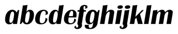 Grenoble Serial Bold Italic Font LOWERCASE