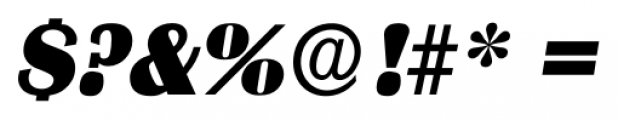 Grenoble Serial Heavy Italic Font OTHER CHARS