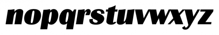Grenoble Serial Heavy Italic Font LOWERCASE