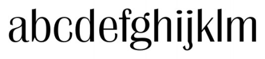 Grenoble Serial Light Font LOWERCASE