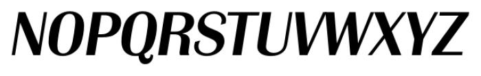 Grenoble Serial Medium Italic Font UPPERCASE