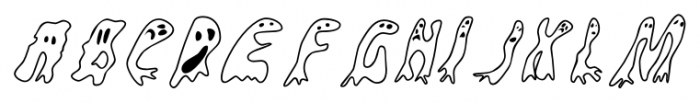 Groovy Ghosties Regular Font UPPERCASE