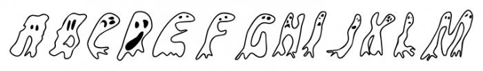 Groovy Ghosties Regular Font LOWERCASE